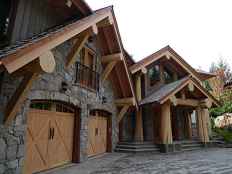 Whistler Round to Square log and timber home