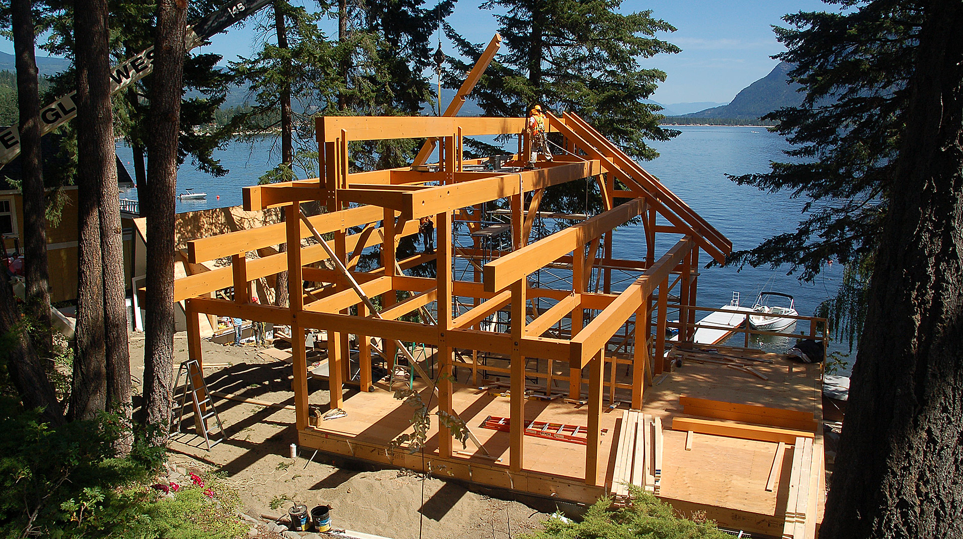 timber frame under contstrucion