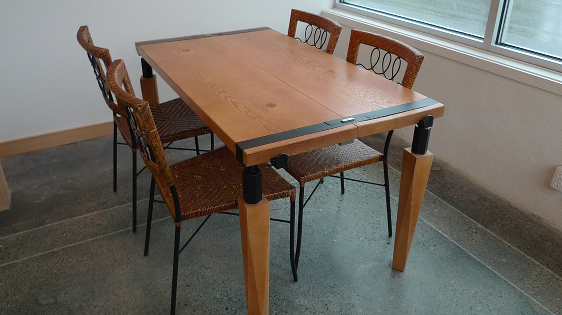 hand crafted table joinery