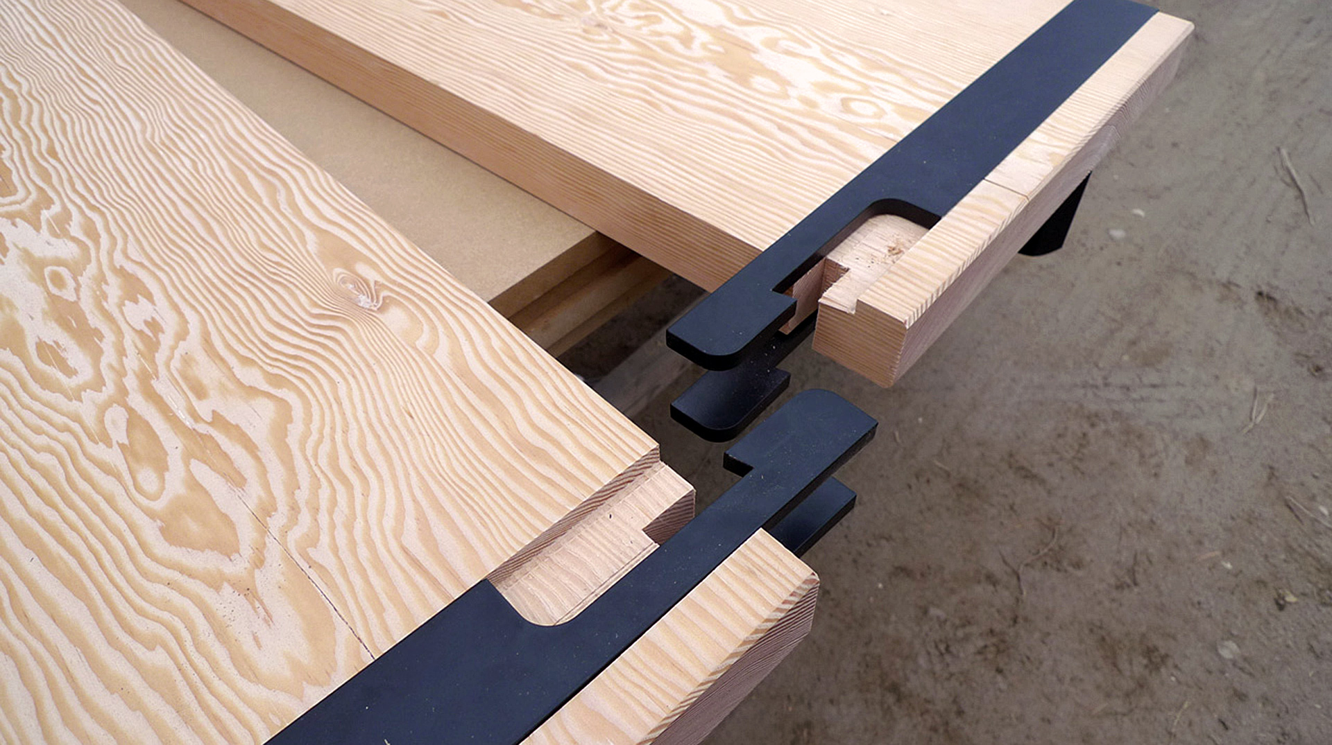custom joinery and table