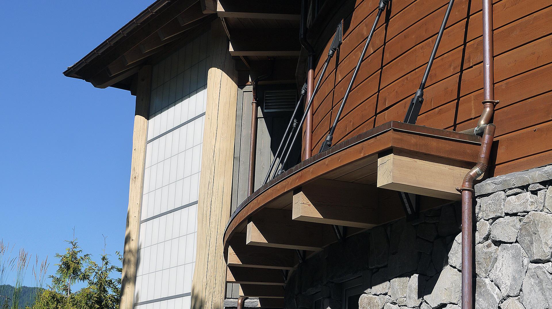 log and timber exterior